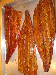 Smoked bluefish done