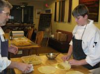 One of Adam's goals this time was to learn to make flaky pastry.