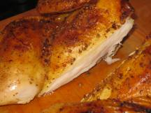 Juicy breast meat, crispy skin.