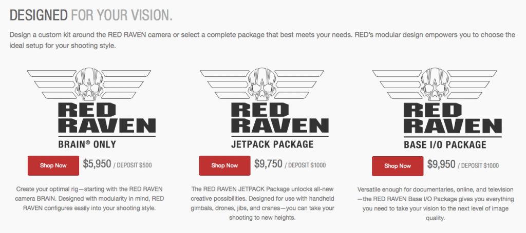 YA ES OFICIAL LA RED RAVEN: 4K RAW A 120 FPS DE 6.000$ A