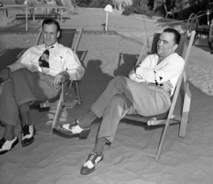 Hoover and assistant Clyde Tolson, circa 1939