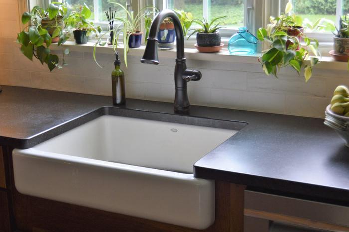 kohler whitehaven farm sink in sea salt