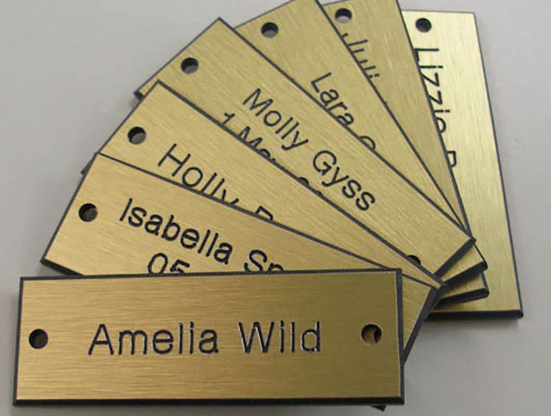 engraved metal signs k