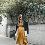 Mustard Yellow Velvet Dress Nyfw Look With Dillard S Kbstyled