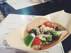 Mexican chicken taco TEX MEX SALAD, CRISP CORN SHELL, OSMOSIS CHICKEN