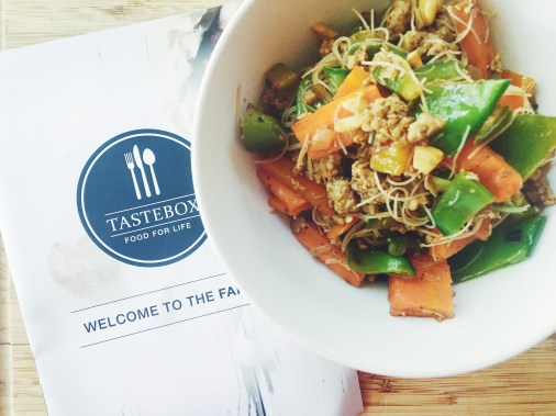 Taste Box - Spicy Thai Pork and Noodle Stirfry