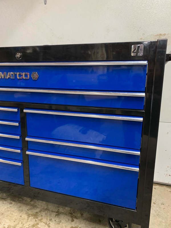 Matco Tool Box Blue - Year of Clean Water