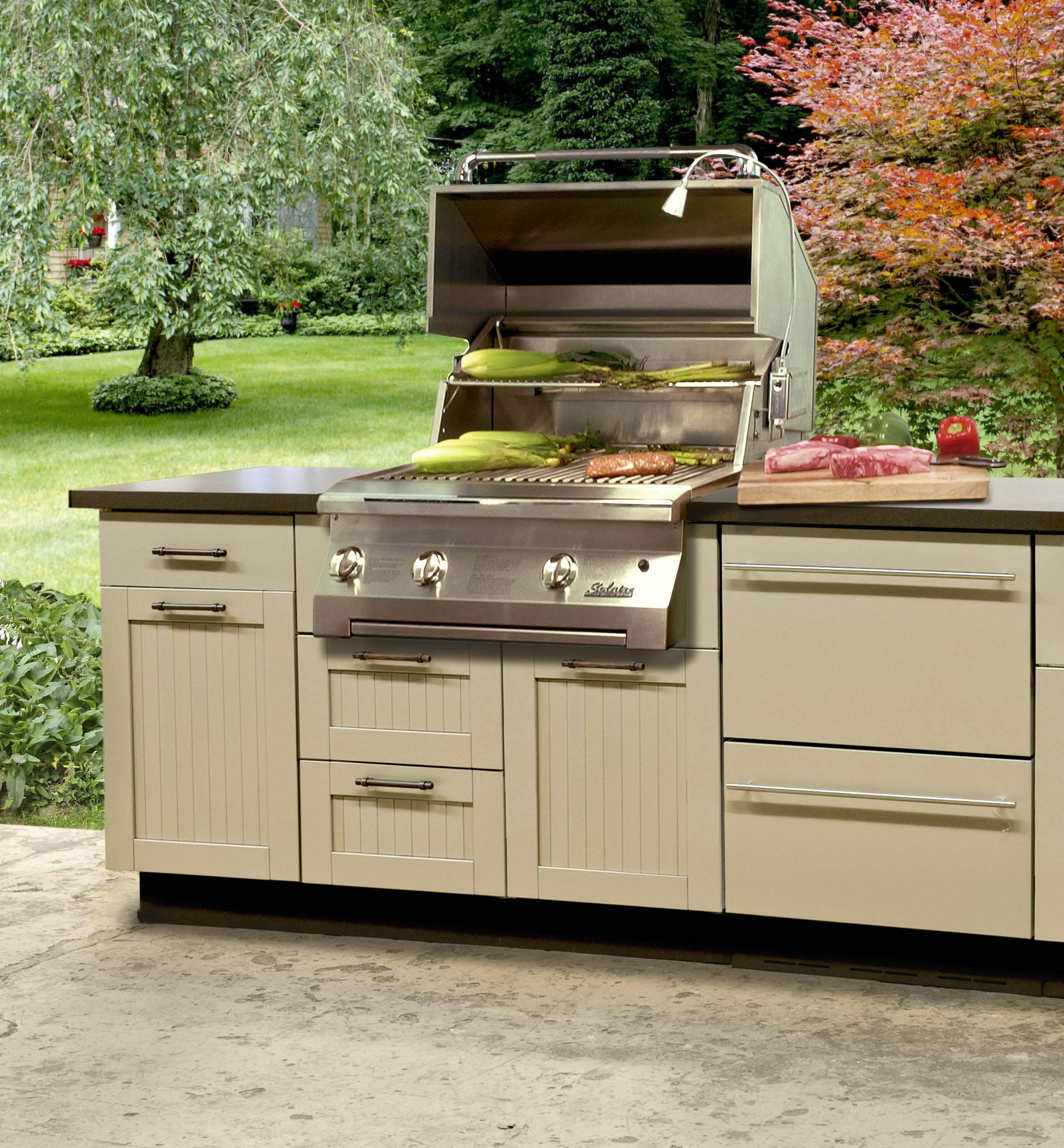 danver outdoor kitchens art van kitchen tables stainless steel cabinetry kbtribechat olympus digital camera