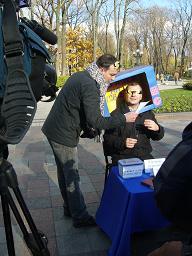 "Єгор Соболєв, Кирило Булкін на акції протесту проти ""джинси"""
