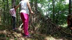 WOW Waldwoche: Unterschlupf Modell in voller Größe