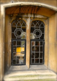 Window, inner Court at Gonville and Caius College, Cambridge