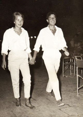 Marianne Jensen and Leonard Cohen, Hydra, Greece