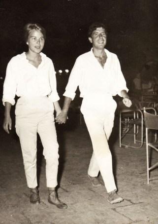 Marianne Jensen and Leonard Cohen, Hydra, Greece