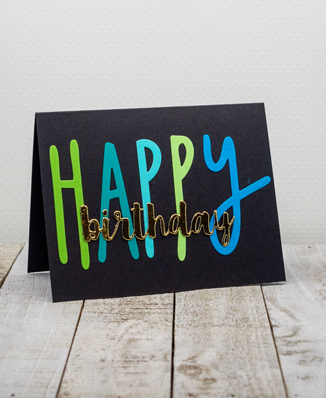 How To Use Die Cuts : Random, Reflections:, Seize, Birthday, Challenge: