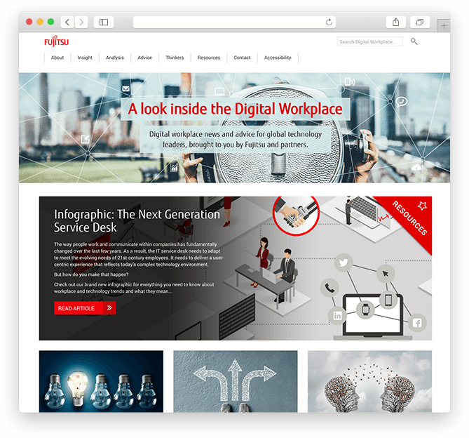 Fujitsu Digital Workplace Microsite Kc Web Design Ltd