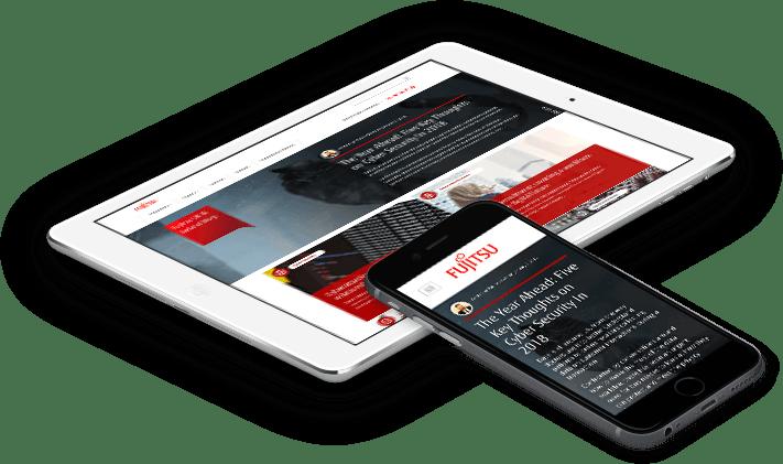 Fujitsu UK web design