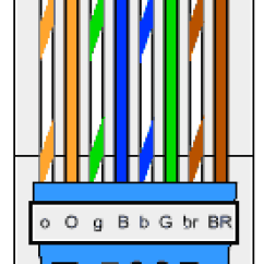 Rj45 Crossover Wiring Diagram Emg Diagrams 81 85 Identifying The Wires Connected To A Rj-45 Connector Terminated Ethernet Cable