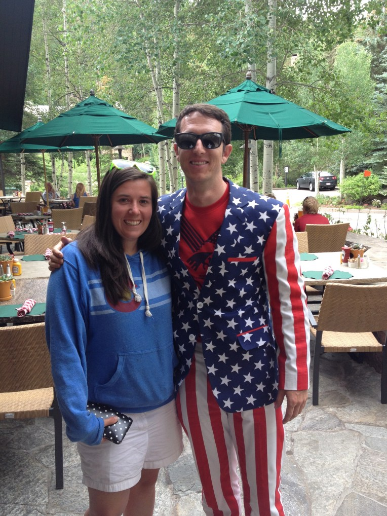 4th of July with my friend Trent; it should be noted this suit was tailored in Kabul, Afghanistan.