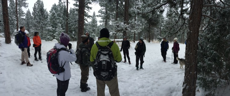 Boulder Chaos - We hiked to the 7th Flatiron on a frozen snowy day.