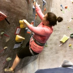 Failing miserably at a 5.9 route.