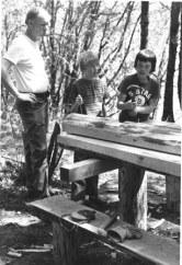 May 8: Assembling a picnic table.