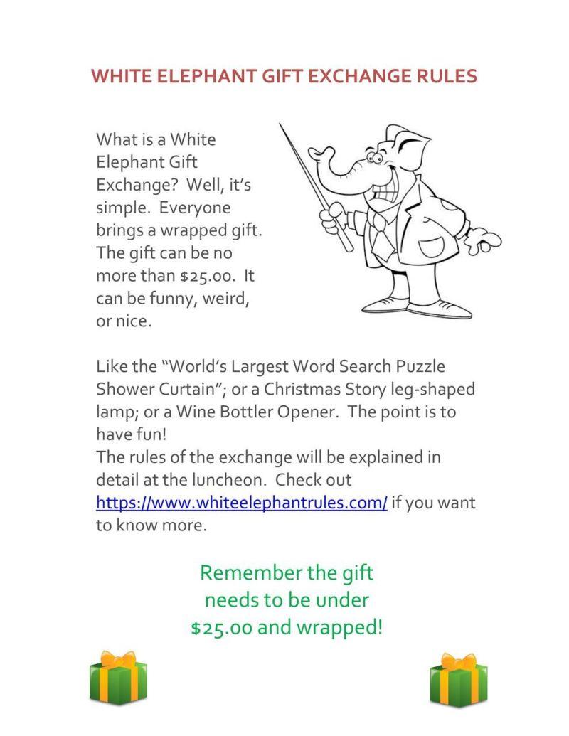 White Elephant Gift Exchange Rules Pdf | Creativepoem.co