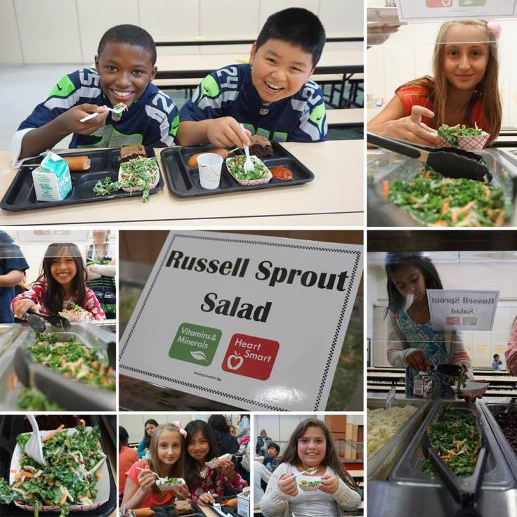 Highline School Lunch Russell Sprout Salad