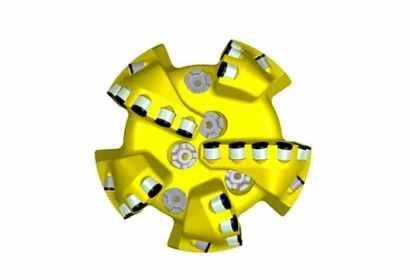 Atlas Copco 5 blade 16 mm cutter pdc drill bit