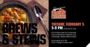 Brews & Stews moved to 2/5/19