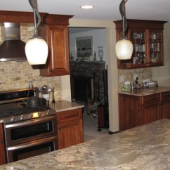 Remodel Works Bath & Kitchen Blue Cabinets Mapleville, Ri | & Countertop Center Of New England