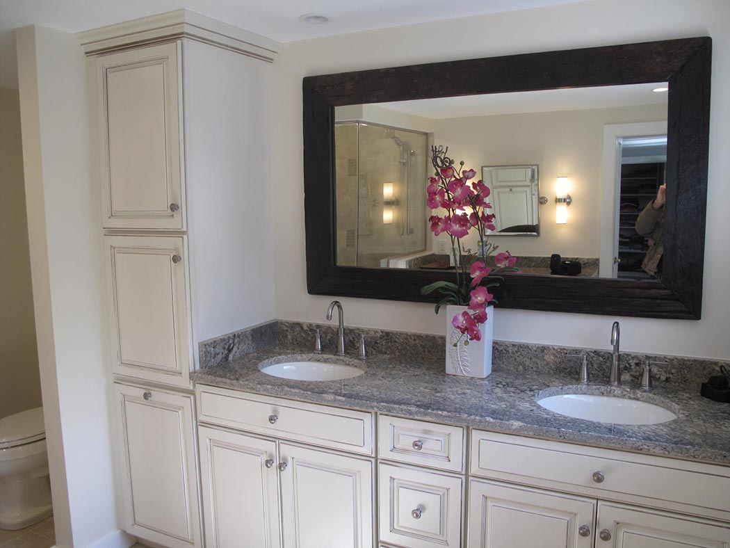 remodel works bath & kitchen nook seating and countertop center of new england