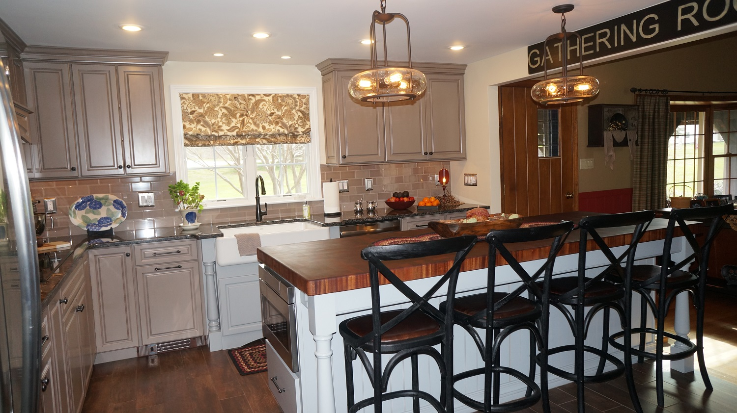 flat front kitchen cabinets lights over table north attleboro, ma | & countertop center of new ...