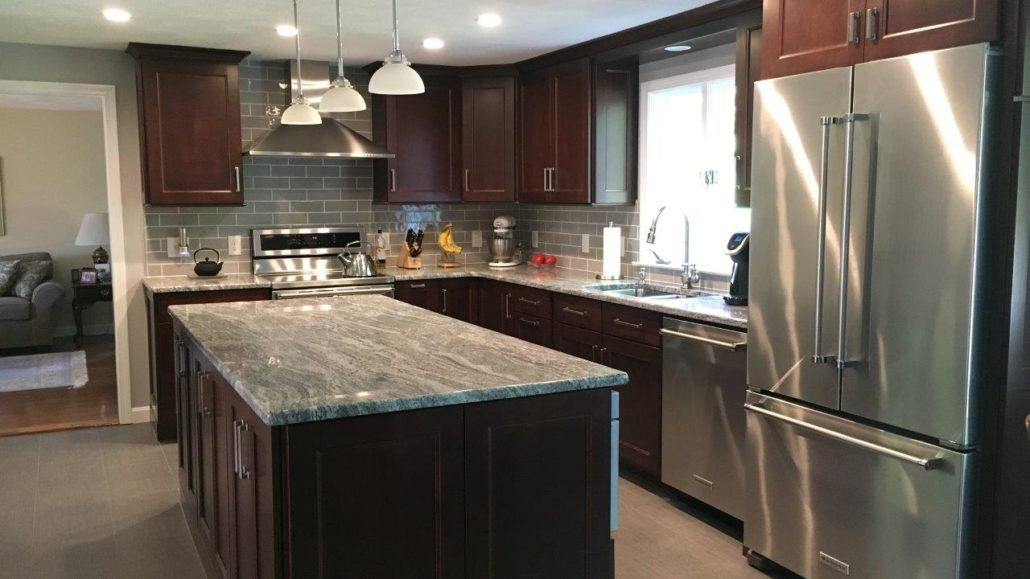 semi custom kitchen cabinets reviews high chair for counter cumberland, ri | & countertop center of new england