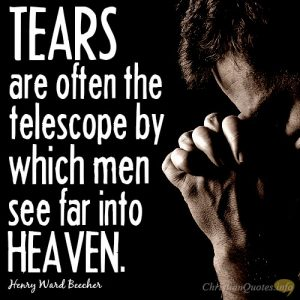 Tears are often the telescope by which men see far into heaven