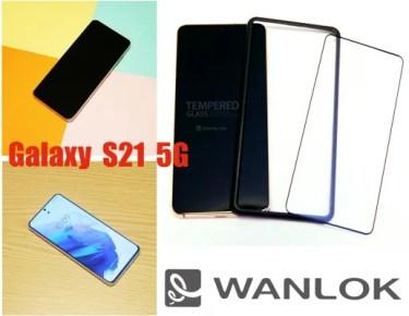 【新商品】独自開発技術により【指紋認証対応-実機確認済み-】貼り付けに簡単なガイド枠付き「Galaxy S21 5G」対応ガラスフィルムが発売