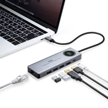 【新商品】USB3.2 Gen2の超高速転送速度10Gbpsに対応、電圧・電流チェッカー搭載のドッキングステーションが発売