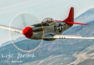 This P-51D Mustang, a part of the Erickson Aircraft Collection based in Madras, Oregon will be in Florence July 1st and 2nd. The plane, painted in the style of the famed Tuskegee Airmen, is piloted by Chief Erickson Mechanic Jim Martinelli. (Erickson Aircraft Collection Photo)