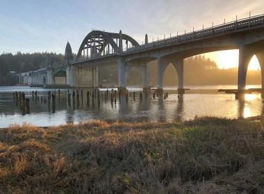 Siuslaw River Bridge at Sunset