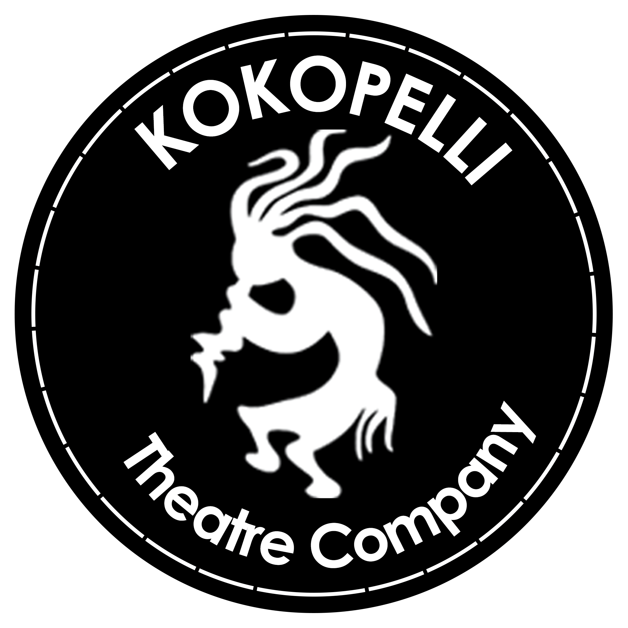 kokopelli circle stamp
