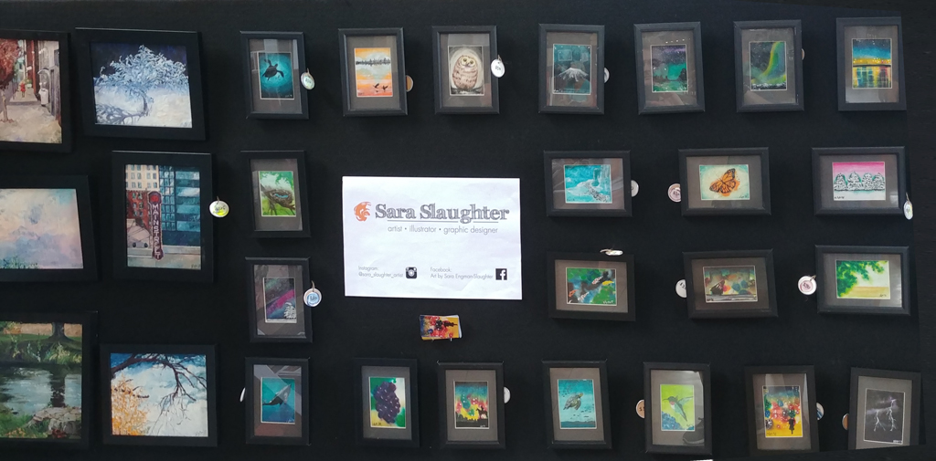 Miniatures by Sara-Engman-Slaughter on display at the 2019 Fringe Festival KC Visual Arts Exhibition at the Union Station (Photo by <i>Mugur Geana</i>)