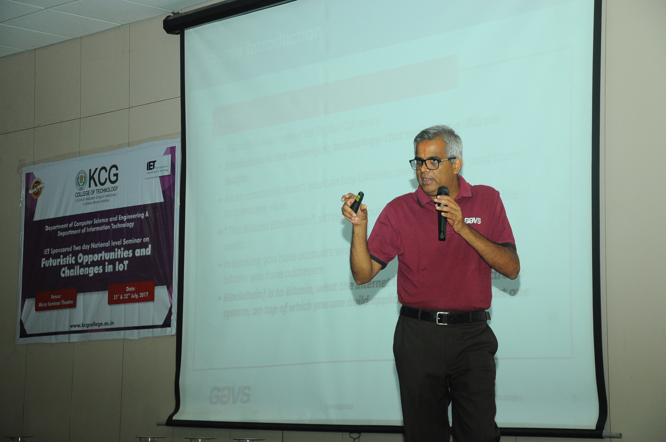 REPORT ON IET SPONSORED TWO DAY SEMINAR ON FUTURISTIC