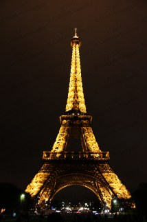 Eiffel Tower And Moulin Rouge Night