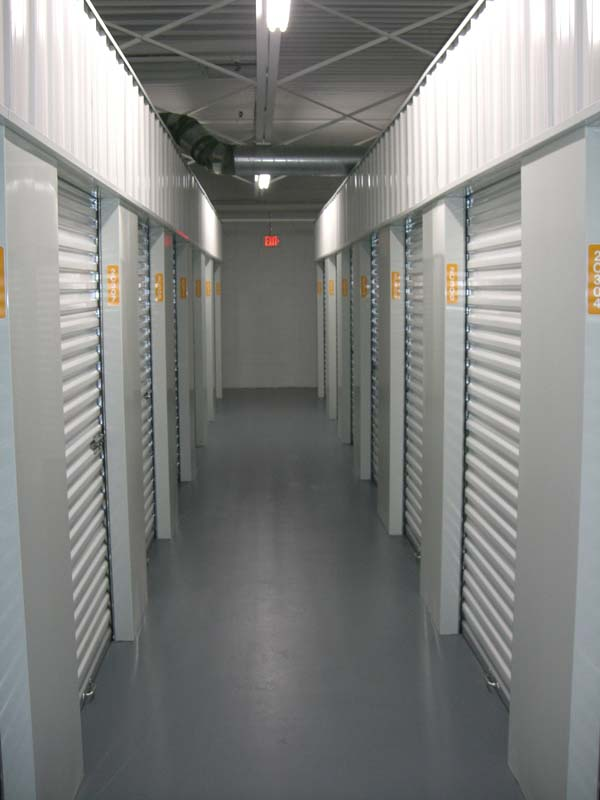Kiehm Construction project - Self storage interior