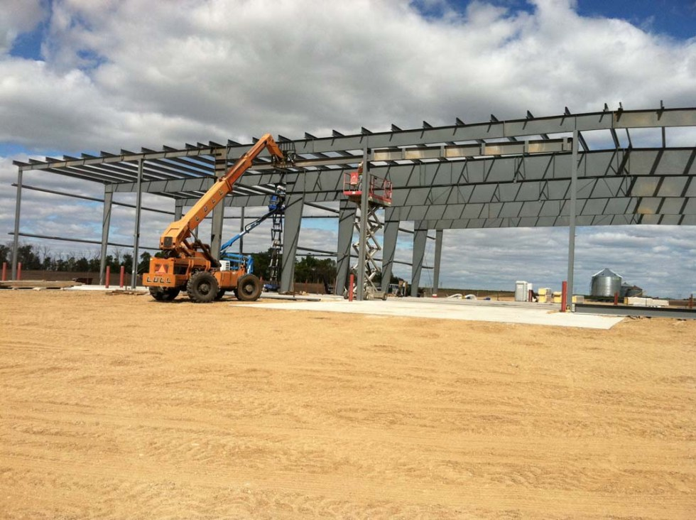 KCI Project - Steel framed construction