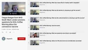 Screenshot of Fergus Keegan Q&A on YouTube