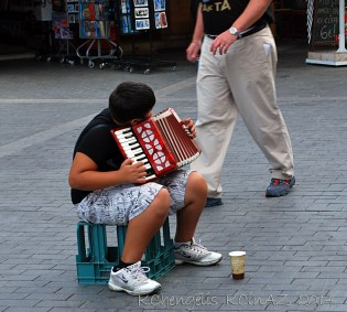 Young Street Entertainer