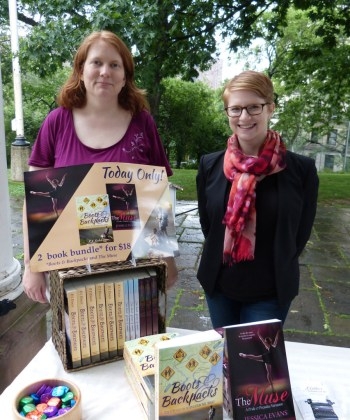 Jessica Evans and I at the RWA-NYC Romance Festival.