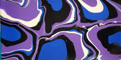 poured paint art