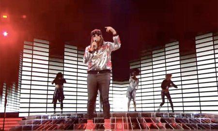 Honey G performing on X Factor. Screenshot/ITV