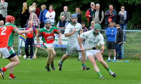Ballyhale Shamrocks in championship action against James Stephens. Photo: KilkennyGAA.ie